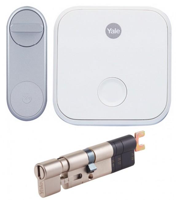 Yale Linus® Smart Lock (Srebrny) + Bridge + Wkładka - zdjęcie główne