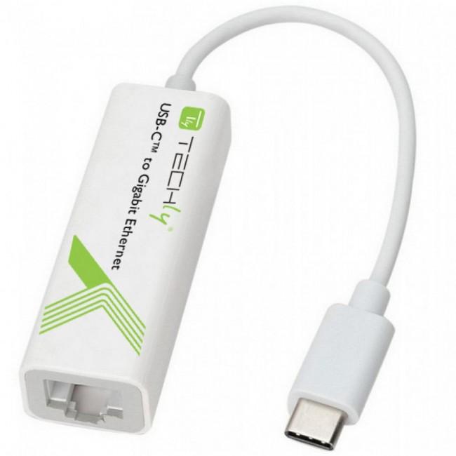 Techly 020379 Karta sieciowa Gigabit - adapter USB-C 3.1 na RJ45 - zdjęcie główne