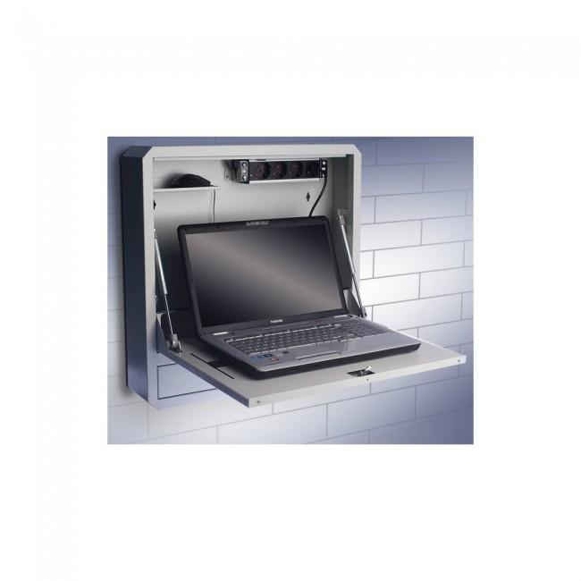 """Techly 026845 Szafka ścienna zabezpieczająca do notebooka 19"""", szara - zdjęcie główne"""