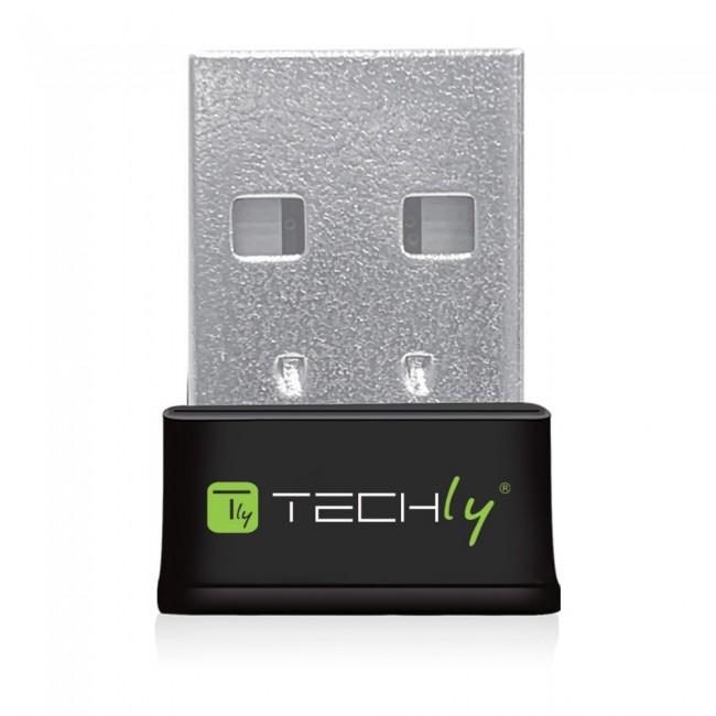 Techly 109252 Mini bezprzewodowa karta sieciowa USB Wi-Fi Dual Band 2.4/5GHz AC600 - zdjęcie główne