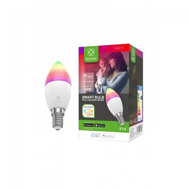WOOX R9075 Inteligentna smart żarówka WiFi LED RGB CCT 5W E14 - zdjęcie główne