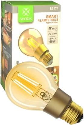 WOOX R9078 Inteligentna smart żarówka filamentowa Retro WiFi LED 6W E27 - zdjęcie główne