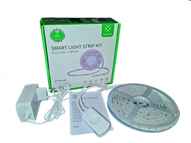 WOOX R5093 Inteligentna smart taśma LED 5050 RGBW, WiFi, 24W, IP65, 5m - zdjęcie główne