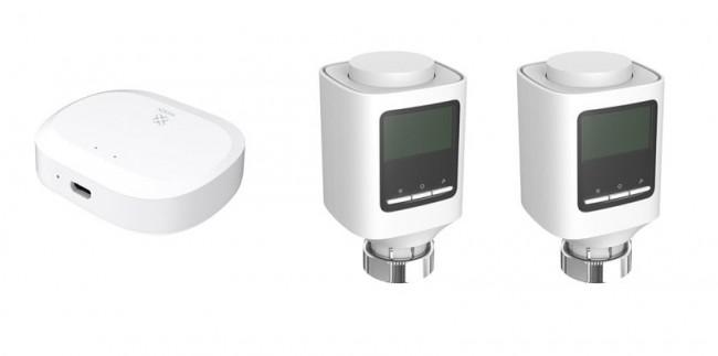 WOOX R7067 Zestaw 2x inteligentna smart głowica grzejnikowa, 1x bramka ZIGBEE - zdjęcie główne