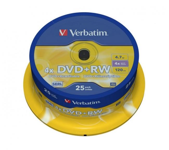 DVD+RW Verbatim 25szt - zdjęcie główne