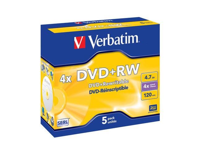 DVD+RW Verbatim 5szt - zdjęcie główne