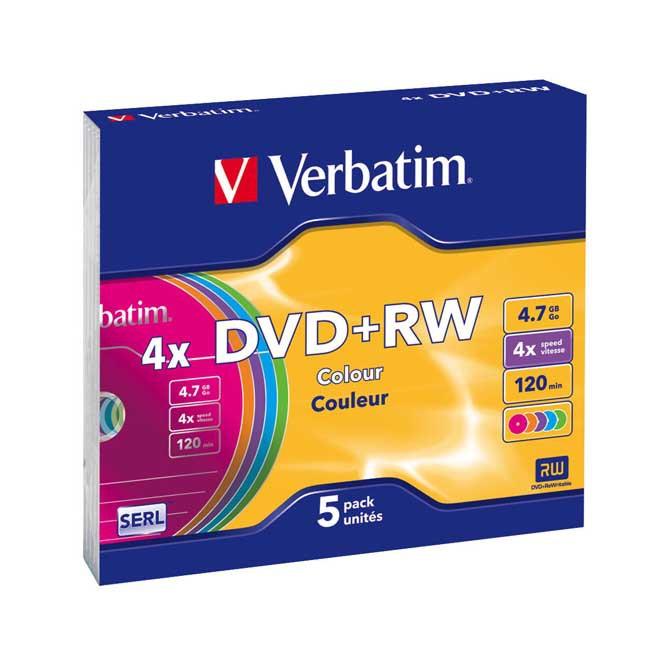 DVD+RW Verbatim slim 5szt - zdjęcie główne