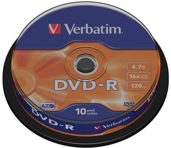 DVD-R Verbatim 10szt - zdjęcie główne