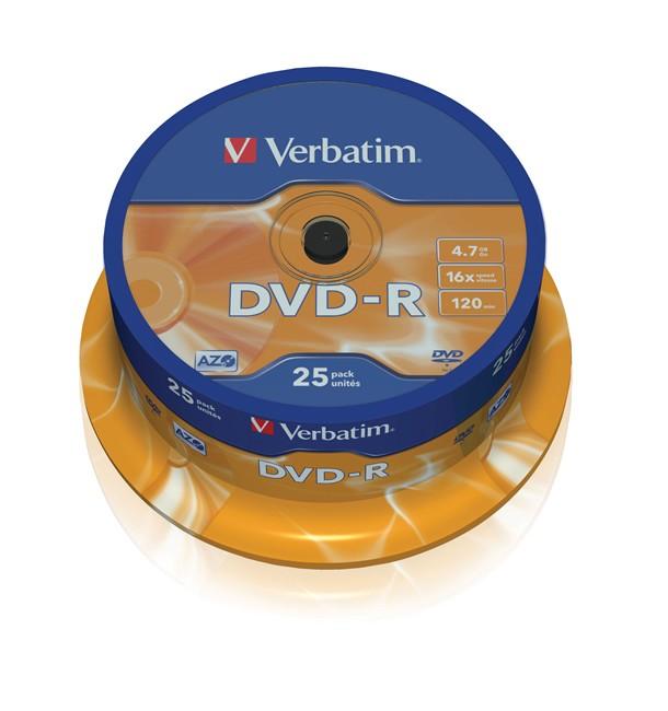 DVD-R Verbatim 25szt - zdjęcie główne