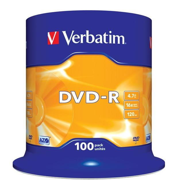 DVD-R Verbatim 100szt - zdjęcie główne