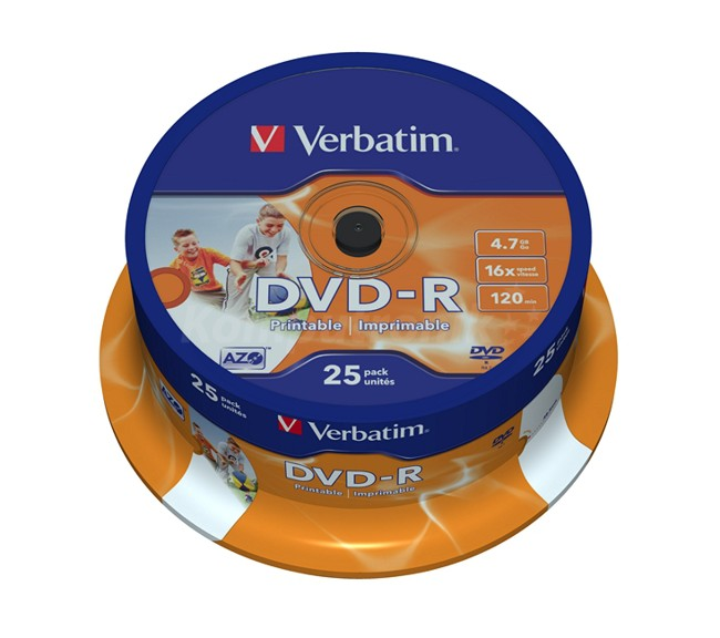 DVD-R Verbatim Printable ID 25 szt - zdjęcie główne
