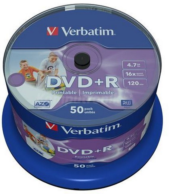 DVD+R Verbatim Printable NO ID 50 szt - zdjęcie główne