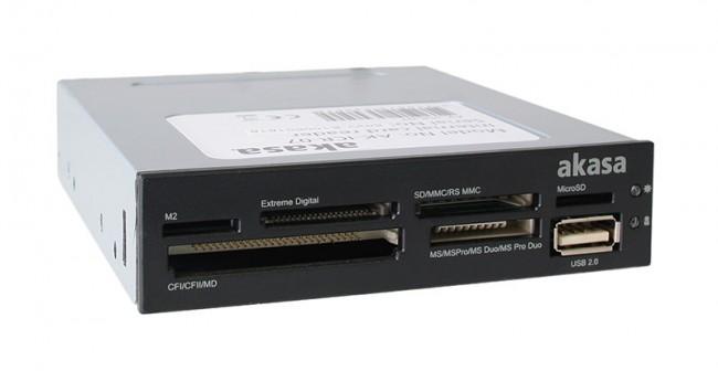 """Akasa AK-ICR-07 6-portowy czytnik kart pamięci 3,5"""" - czarny - zdjęcie główne"""