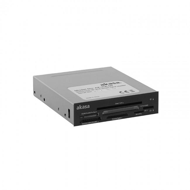"""Akasa AK-ICR-09 czytnik kart pamięci i ID 3,5"""" - czarny/biały - zdjęcie główne"""