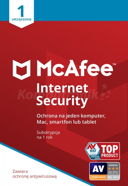 McAfee Internet Security ESD PL 1 - device - licencja na rok - zdjęcie główne