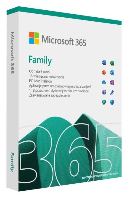 Microsoft 365 Family PL - licencja na rok - zdjęcie główne