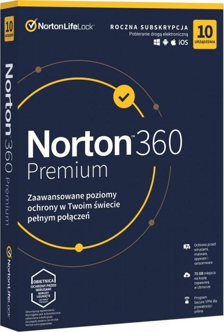 Norton 360 Premium BOX PL 10 - device - licencja na rok - zdjęcie główne