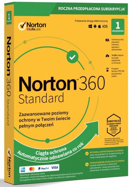Norton 360 Standard BOX PL 1 - device - licencja na rok - zdjęcie główne