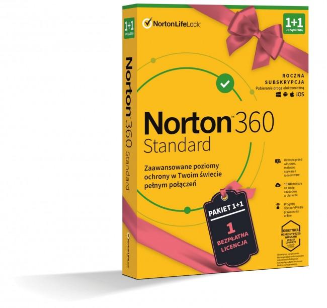 Norton 360 Standard BOX PL 1 + 1 - device - licencja na rok - zdjęcie główne