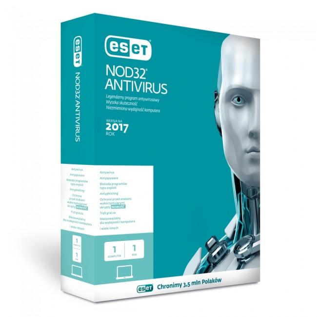 ESET NOD32 Antivirus BOX 1 - desktop - odnowienie na rok - zdjęcie główne