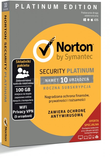 Norton Security Platinum Box Pl 10 Desktop Licencja Na Rok Cena Raty Sklep Komputronikpl