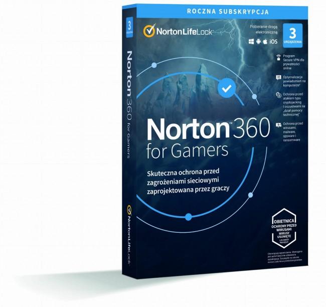 Norton 360 for Gamers BOX PL 3 - device - licencja na rok - zdjęcie główne