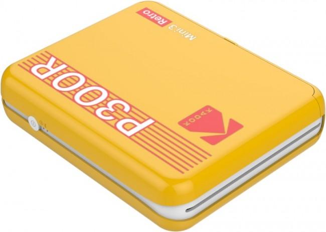 Kodak Printer Mini 3 Plus Retro Żółty - zdjęcie główne