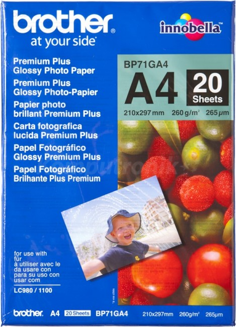 Papier Brother Photo Glossy 20 ark [A4] - zdjęcie główne