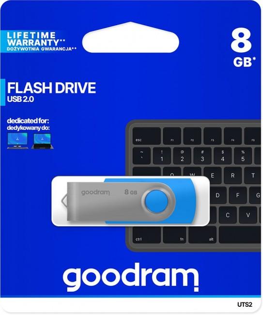 GOODRAM UTS2 8GB niebieski - zdjęcie główne