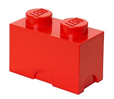 Lego Storage Brick 2 czerwony - zdjęcie główne