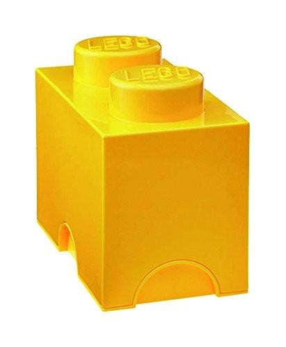 Lego Storage Brick 2 żółty - zdjęcie główne