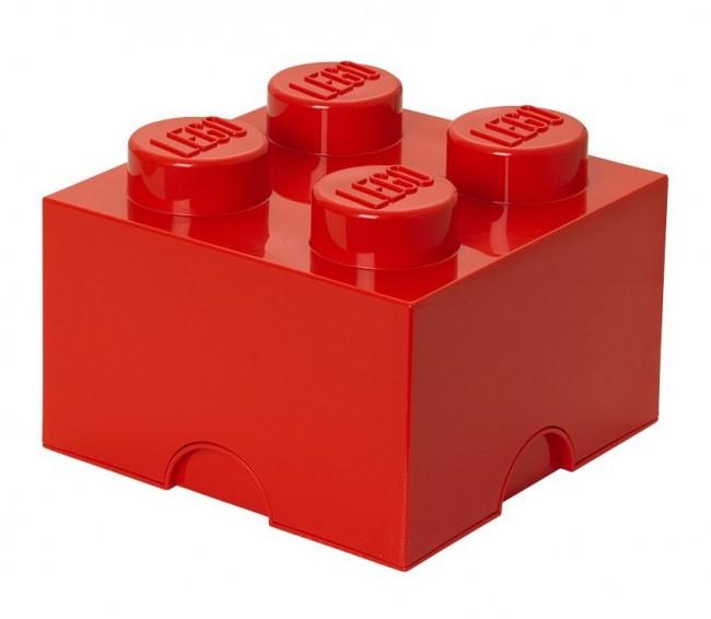 Lego Storage Brick 4 czerwony - zdjęcie główne