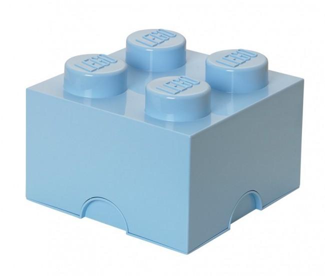 Lego Storage Brick 4 jasnoniebieski - zdjęcie główne