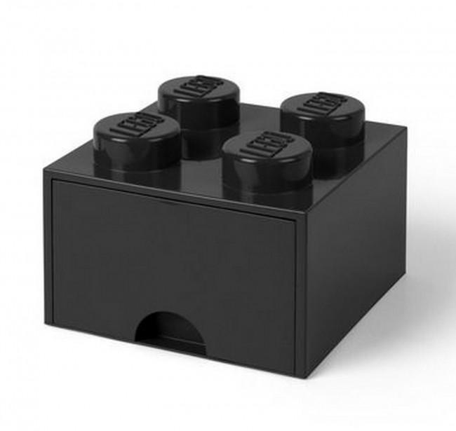 Lego Brick Drawer 4 czarny - zdjęcie główne