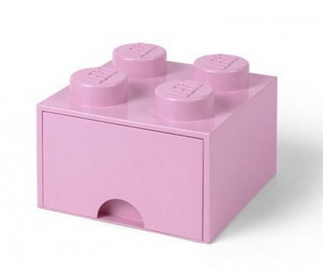 Lego Brick Drawer 4 jasnoróżowy - zdjęcie główne