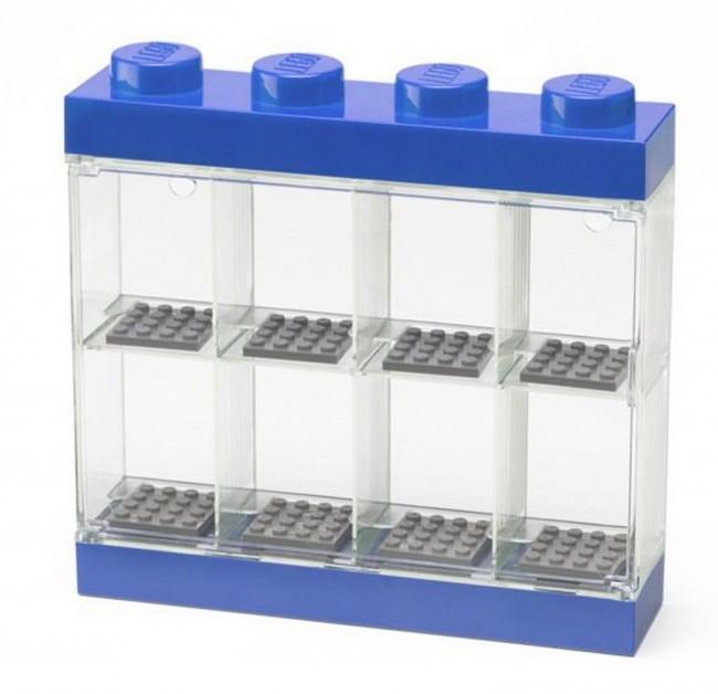 Lego Minifigure Display Case na 8 figurek niebieska - zdjęcie główne