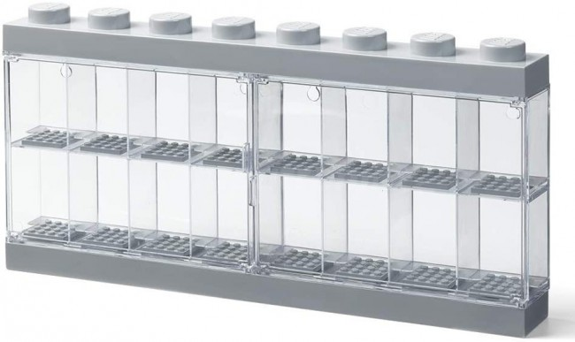 Lego Minifigure Display Case na 16 Figurek szary - zdjęcie główne