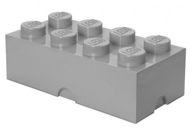 Lego Storage Brick 8 szary - zdjęcie główne
