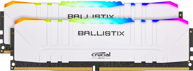 Crucial Ballistix RGB White 16GB [2x8GB 3200MHz DDR4 CL16 DIMM] - zdjęcie główne