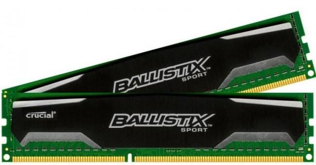 Crucial Ballistix Sport 8GB [2x4GB 1600MHz DDR3 CL9 1.5V DIMM] - zdjęcie główne