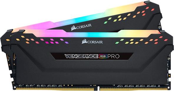 Corsair Vengeance RGB Pro Black 16GB [2x8GB 3200MHz DDR4 CL16 1.35V DIMM] - zdjęcie główne