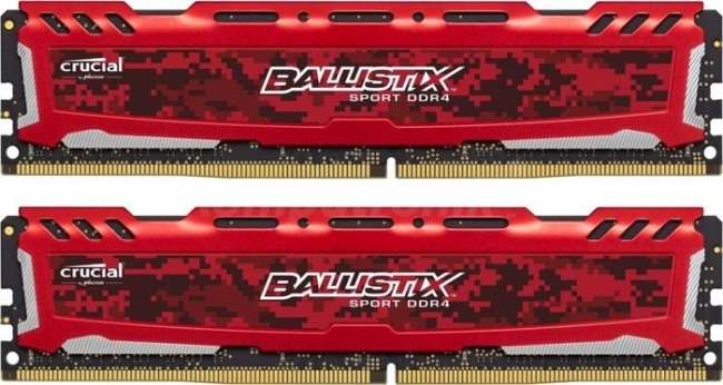 Crucial Ballistix Sport LT Red 16GB [2x8GB 2400MHz DDR4 CL16 1.2V DIMM] - zdjęcie główne