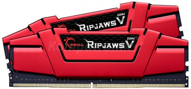 G.SKILL RipjawsV 16 gb DDR4 2x8GB 3600MHz CL19 XMP2 Red - zdjęcie główne