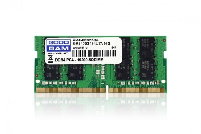 GOODRAM 16GB [1x16GB 2400MHz DDR4 CL17 SODIMM] - zdjęcie główne