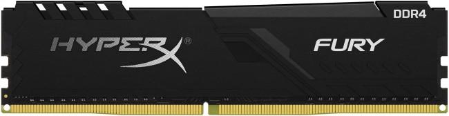 HyperX Fury Black 16GB [1x16GB 2400MHz DDR4 CL15 XMP 1.2V DIMM] - zdjęcie główne