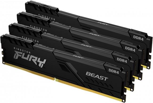 Kingston Fury Beast 32GB [4x8GB 3200MHz DDR4 CL16 DIMM] - zdjęcie główne