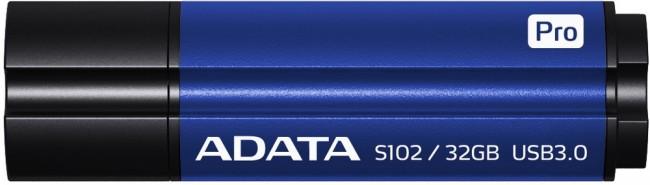 ADATA pamięć USB S102 PRO 32GB USB 3.0 Titanium Blue (Write/Read 25/90MB/s ) - zdjęcie główne