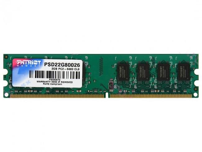 Patriot Signature 2GB [1x2GB 800MHz DDR2 CL6 DIMM] - zdjęcie główne