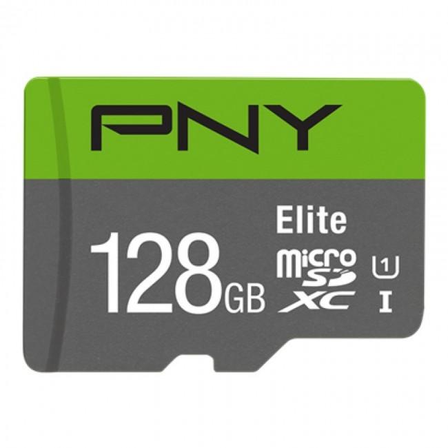PNY Elite microSDXC 128GB + Adapter SD - zdjęcie główne