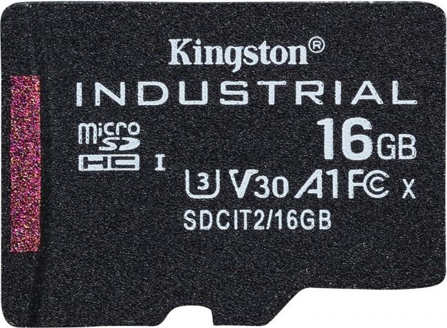 Kingston Industrial microSDHC 16GB Class 10 A1 pSLC + SD Adapter - zdjęcie główne